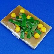 Corn & Leek Miso Soup Business Card Case - Fake Food Japan