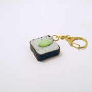 Cucumber Roll Sushi Keychain - Fake Food Japan