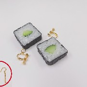 Cucumber Roll Sushi Pierced Earrings - Fake Food Japan