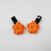 Flower-Shaped Carrot (mini) Ver. 1 Hair Clip (Pair Set) - Fake Food Japan