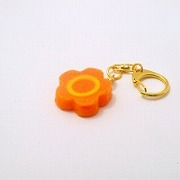 Flower-Shaped Carrot Ver. 1 Keychain - Fake Food Japan