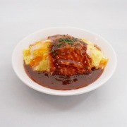 Fried Rice Omelette with Demi-Glace Sauce (small) Small Size Replica - Fake Food Japan