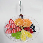 Fruit Assortment Wall Clock