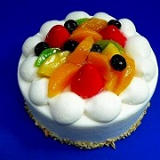 Fruit Topped Cake Replica - Fake Food Japan