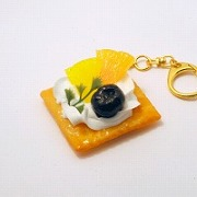Fruits Topped Cookie Keychain - Fake Food Japan