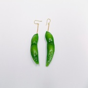 Green Soybean Pierced Earrings - Fake Food Japan