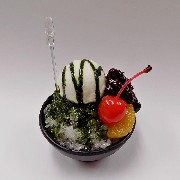 Green Tea (Matcha) Kakigori (Snow Cone/Shaved Ice) Small Size Replica - Fake Food Japan