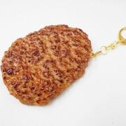 Hamburger Patty (large) Keychain - Fake Food Japan