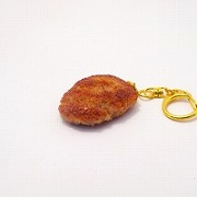 Hamburger Patty (medium) Keychain - Fake Food Japan
