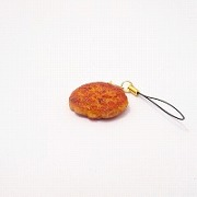 Hamburger Patty (small) Cell Phone Charm/Zipper Pull - Fake Food Japan