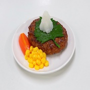 Hamburger Patty with Grated Japanese Radish Small Size Replica - Fake Food Japan