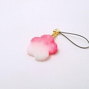 Hanafu (Flower Shaped Wheat Gluten) Cell Phone Charm/Zipper Pull - Fake Food Japan