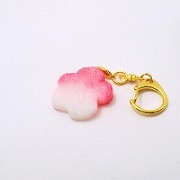 Hanafu (Flower Shaped Wheat Gluten) Keychain - Fake Food Japan