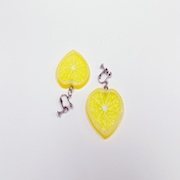Lemon Slice (Heart-Shaped) Earrings - Fake Food Japan