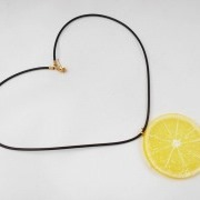 Lemon Slice Necklace - Fake Food Japan