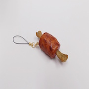 Meat on Bone Cell Phone Charm/Zipper Pull - Fake Food Japan
