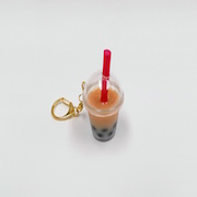 Milk Tea Tapioca Drink (mini) Keychain - Fake Food Japan