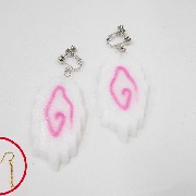 Naruto (Tidal Whirlpool Shaped Wheat Gluten) Pierced Earrings - Fake Food Japan