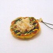 Okonomiyaki (Pancake) Cell Phone Charm/Zipper Pull - Fake Food Japan