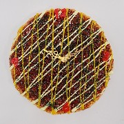 Okonomiyaki (Pancake) (large) Wall Clock - Fake Food Japan
