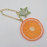 Orange Slice & Melon (Star-Shaped) (small) Bag Charm - Fake Food Japan