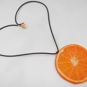 Orange Slice Necklace - Fake Food Japan