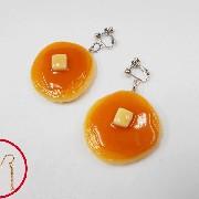 Pancake Pierced Earrings - Fake Food Japan
