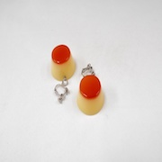 Pudding Earrings - Fake Food Japan