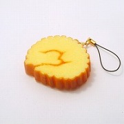 Rolled Fish Paste Omelette Cell Phone Charm/Zipper Pull - Fake Food Japan