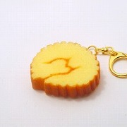 Rolled Fish Paste Omelette Keychain - Fake Food Japan