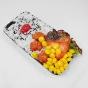 Salmon & Kara-age (Boneless Fried Chicken) Bento iPhone 4/4S Case - Fake Food Japan