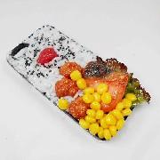 Salmon & Kara-age (Boneless Fried Chicken) Bento iPhone 8 Case - Fake Food Japan