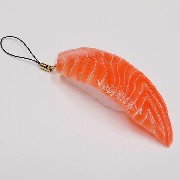 Salmon Sushi Cell Phone Charm/Zipper Pull - Fake Food Japan