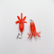 Sausage (Mouthless Octopus-Shaped) Clip-On Earrings - Fake Food Japan