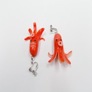 Sausage (Octopus-Shaped) Clip-On Earrings - Fake Food Japan