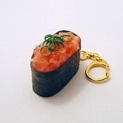 Scallion & Tuna Battleship Roll Sushi Keychain - Fake Food Japan