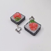 Scallion & Tuna Roll Sushi Clip-On Earrings - Fake Food Japan