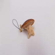 Shiitake Mushroom Ver. 2 Cell Phone Charm/Zipper Pull - Fake Food Japan