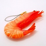 Whole Shrimp Cell Phone Charm/Zipper Pull - Fake Food Japan