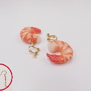 Shrimp (small) Pierced Earrings - Fake Food Japan