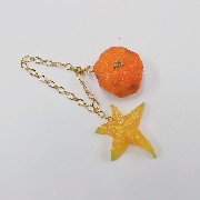 Spoiled Orange & Star Fruit (small) Bag Charm - Fake Food Japan