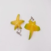 Star-Shaped Fruit (small) Clip-On Earrings - Fake Food Japan