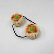Steamed Pork Dumpling with Green Pea Hair Band (Pair Set) - Fake Food Japan