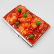 Stir-Fried Shrimp with Chili Sauce Business Card Case - Fake Food Japan
