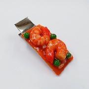 Stir-Fried Shrimp with Chili Sauce (large) Hair Clip - Fake Food Japan