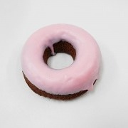 Strawberry Frosted Chocolate Doughnut Magnet - Fake Food Japan