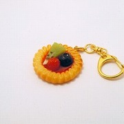 Strawberry Sauce-Filled Kiwi, Raspberry & Blueberry Cookie Keychain - Fake Food Japan