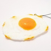 Sunny-Side Up Egg (large) Cell Phone Charm/Zipper Pull - Fake Food Japan