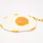 Sunny-Side Up Egg (large) Keychain - Fake Food Japan