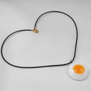 Sunny-Side Up Egg (small) Necklace - Fake Food Japan